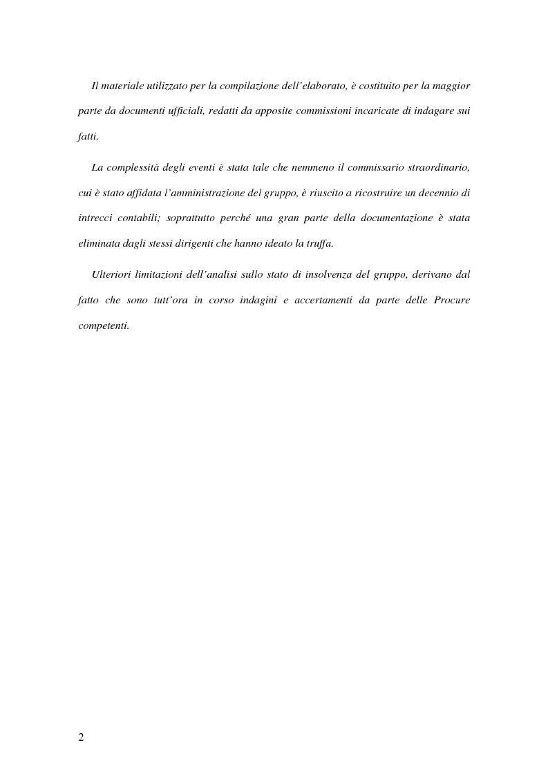 Anteprima della tesi: Il crack Parmalat: una truffa agevolata dal conflitto di interessi degli organi di controllo, Pagina 2