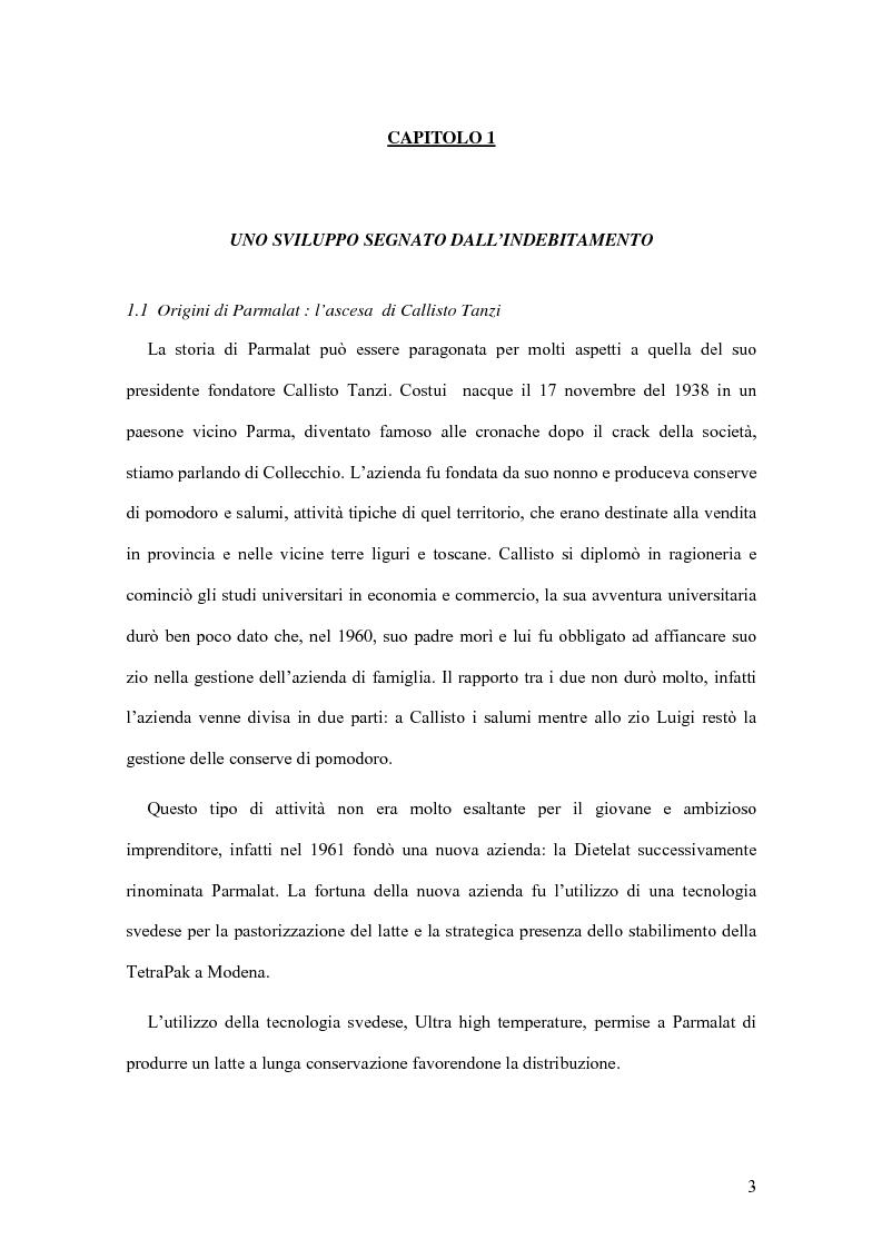 Anteprima della tesi: Il crack Parmalat: una truffa agevolata dal conflitto di interessi degli organi di controllo, Pagina 3