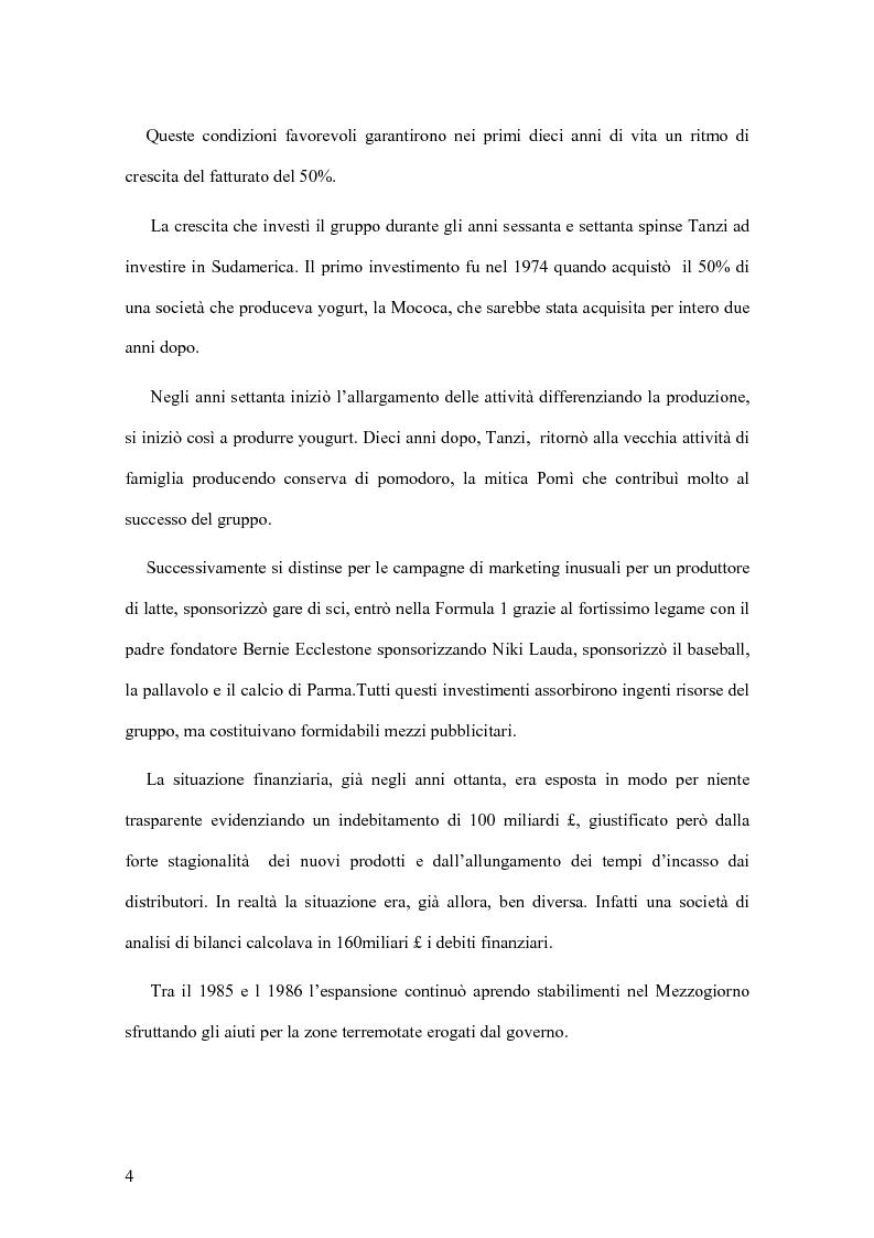 Anteprima della tesi: Il crack Parmalat: una truffa agevolata dal conflitto di interessi degli organi di controllo, Pagina 4