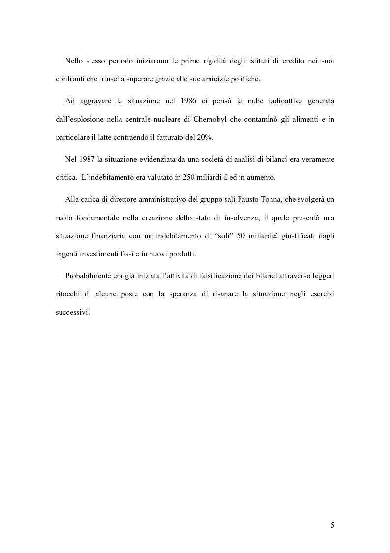 Anteprima della tesi: Il crack Parmalat: una truffa agevolata dal conflitto di interessi degli organi di controllo, Pagina 5