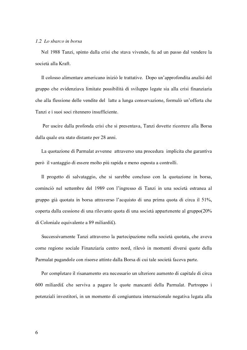 Anteprima della tesi: Il crack Parmalat: una truffa agevolata dal conflitto di interessi degli organi di controllo, Pagina 6