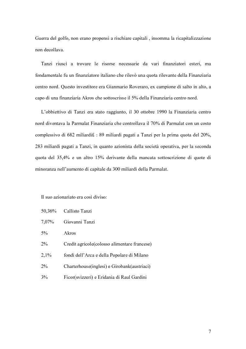 Anteprima della tesi: Il crack Parmalat: una truffa agevolata dal conflitto di interessi degli organi di controllo, Pagina 7