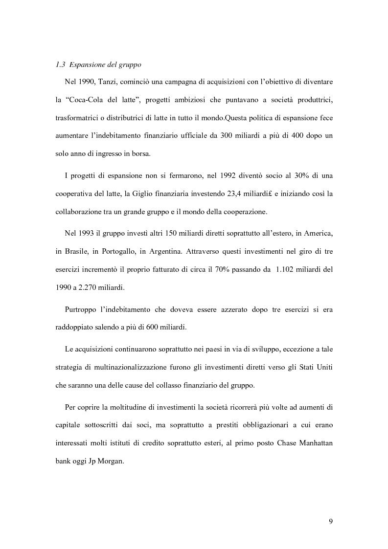 Anteprima della tesi: Il crack Parmalat: una truffa agevolata dal conflitto di interessi degli organi di controllo, Pagina 9