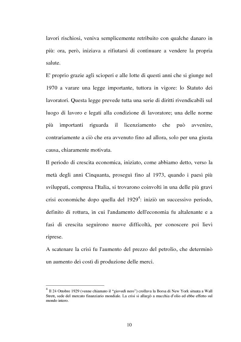 Anteprima della tesi: Il lavoro flessibile: progresso o recessione? Ricerca empirica nel territorio comasco., Pagina 10
