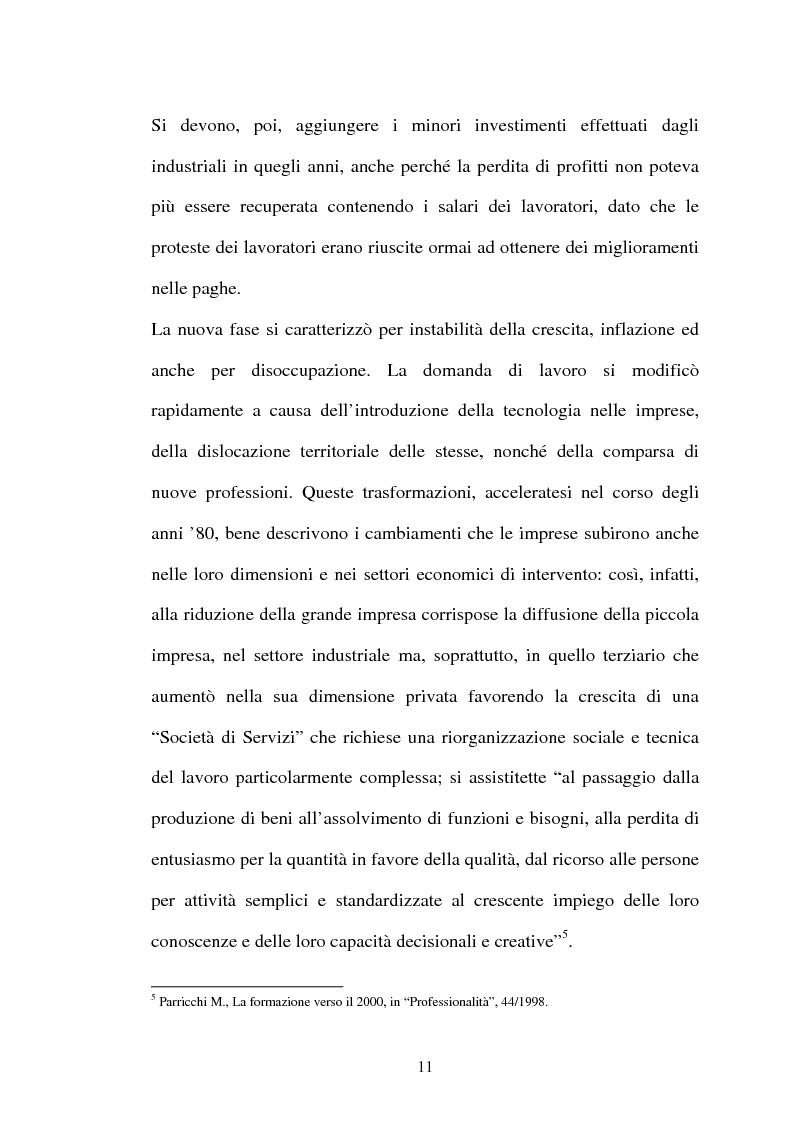 Anteprima della tesi: Il lavoro flessibile: progresso o recessione? Ricerca empirica nel territorio comasco., Pagina 11