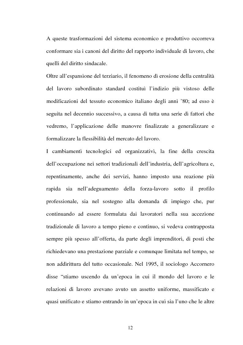 Anteprima della tesi: Il lavoro flessibile: progresso o recessione? Ricerca empirica nel territorio comasco., Pagina 12