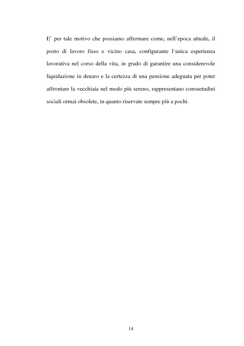Anteprima della tesi: Il lavoro flessibile: progresso o recessione? Ricerca empirica nel territorio comasco., Pagina 14