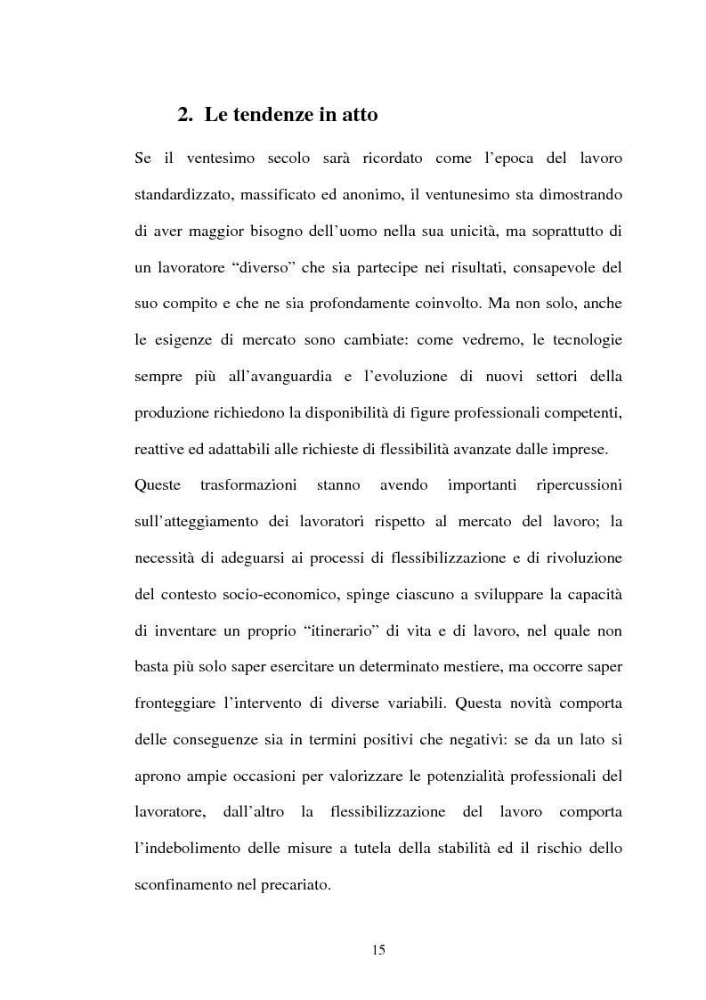 Anteprima della tesi: Il lavoro flessibile: progresso o recessione? Ricerca empirica nel territorio comasco., Pagina 15