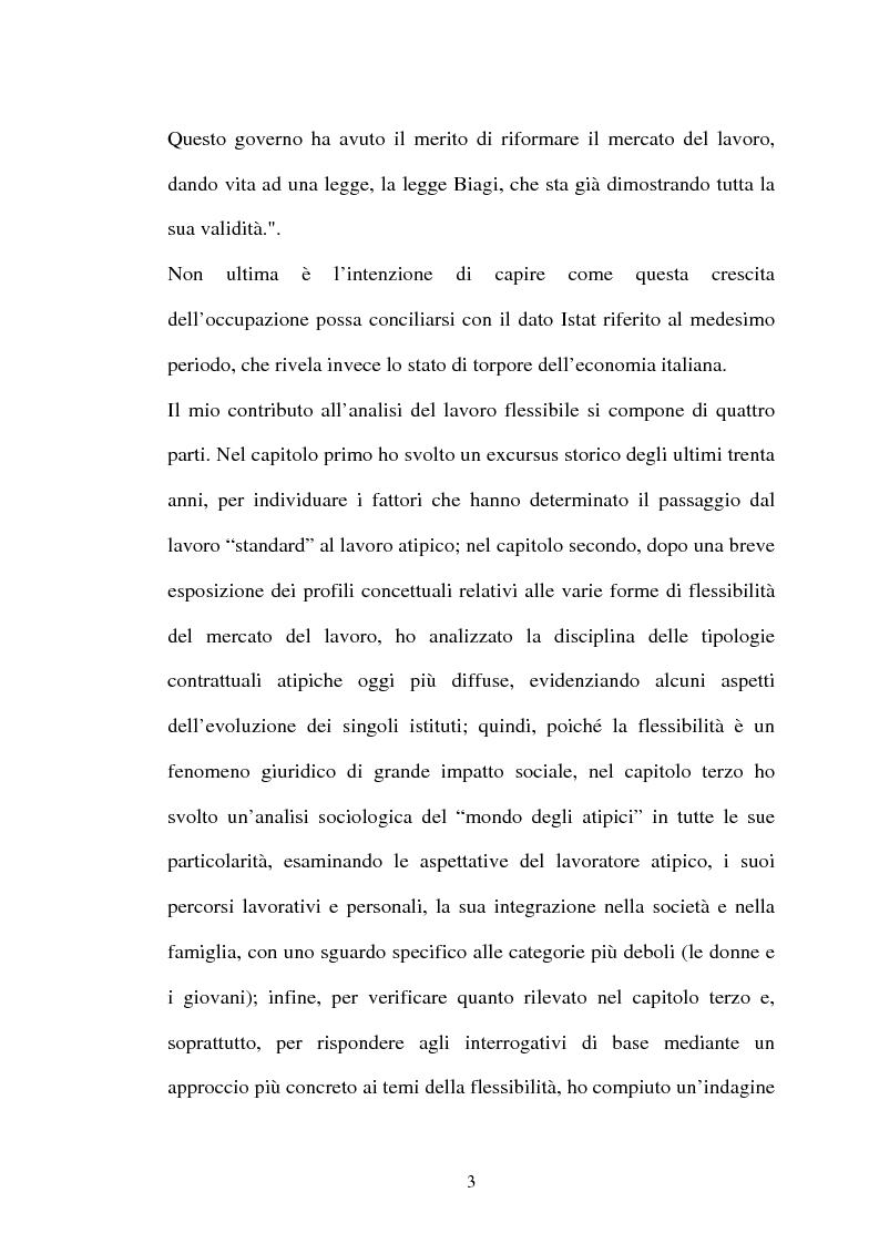 Anteprima della tesi: Il lavoro flessibile: progresso o recessione? Ricerca empirica nel territorio comasco., Pagina 3