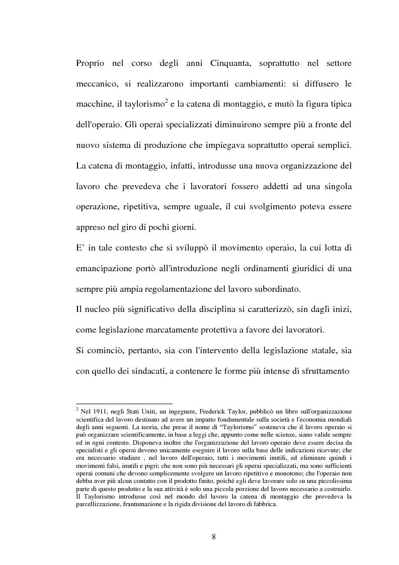 Anteprima della tesi: Il lavoro flessibile: progresso o recessione? Ricerca empirica nel territorio comasco., Pagina 8