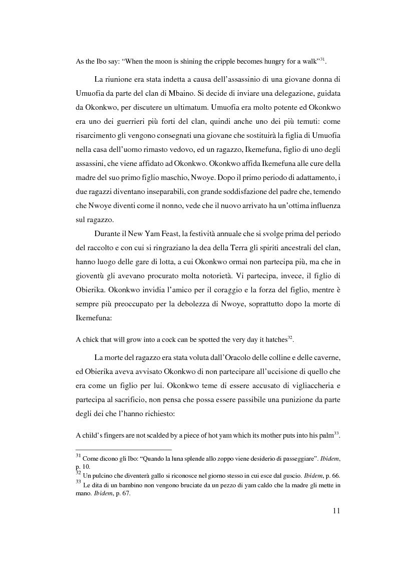 Anteprima della tesi: Tradizione e innovazione nella trilogia di Chinua Achebe, Pagina 11