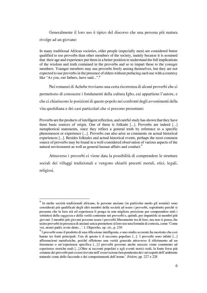 Anteprima della tesi: Tradizione e innovazione nella trilogia di Chinua Achebe, Pagina 6