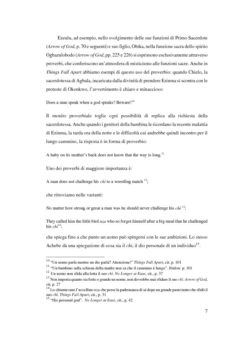 Anteprima della tesi: Tradizione e innovazione nella trilogia di Chinua Achebe, Pagina 7