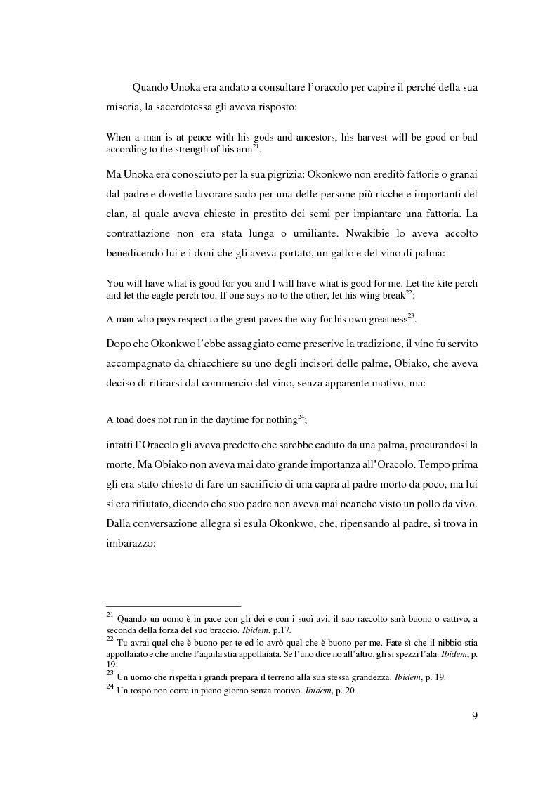 Anteprima della tesi: Tradizione e innovazione nella trilogia di Chinua Achebe, Pagina 9