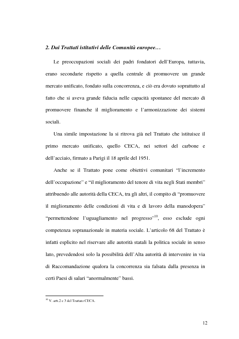 Anteprima della tesi: La tutela dei lavoratori contro i licenziamenti nell'Unione Europea e nel diritto comparato, Pagina 12