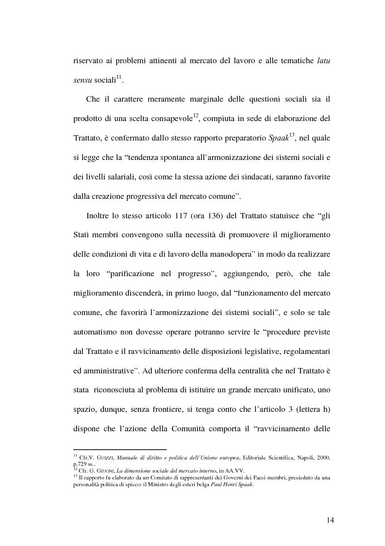 Anteprima della tesi: La tutela dei lavoratori contro i licenziamenti nell'Unione Europea e nel diritto comparato, Pagina 14