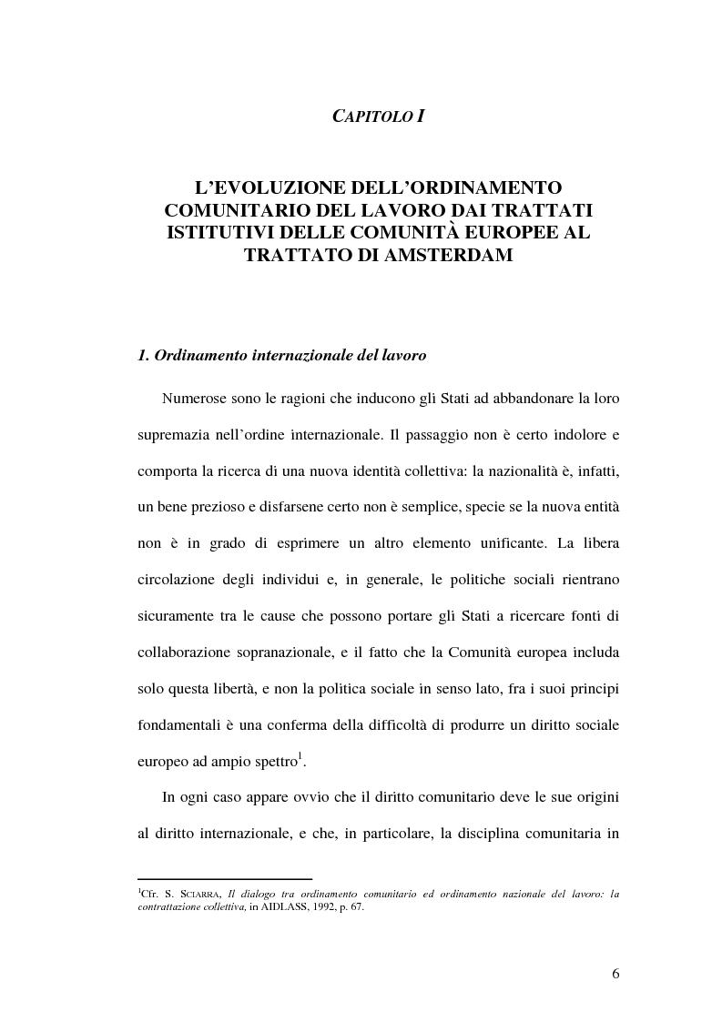 Anteprima della tesi: La tutela dei lavoratori contro i licenziamenti nell'Unione Europea e nel diritto comparato, Pagina 6