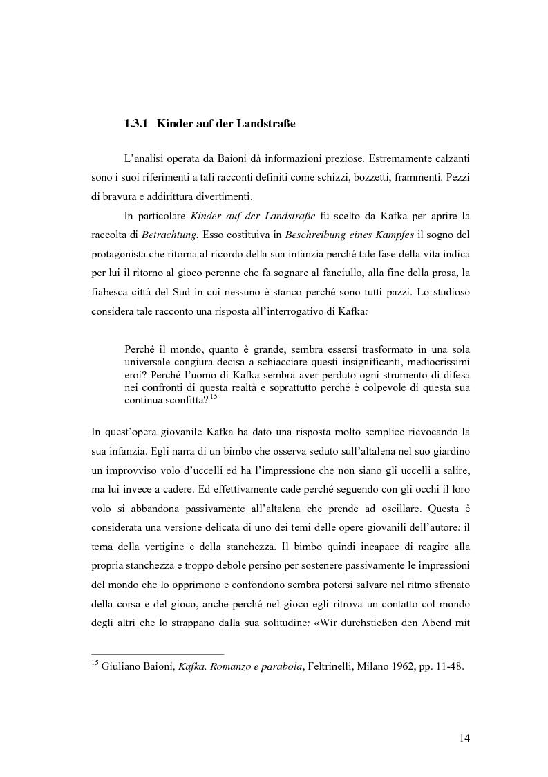Anteprima della tesi: Betrachtung di Franz Kafka nelle traduzioni italiane, Pagina 10