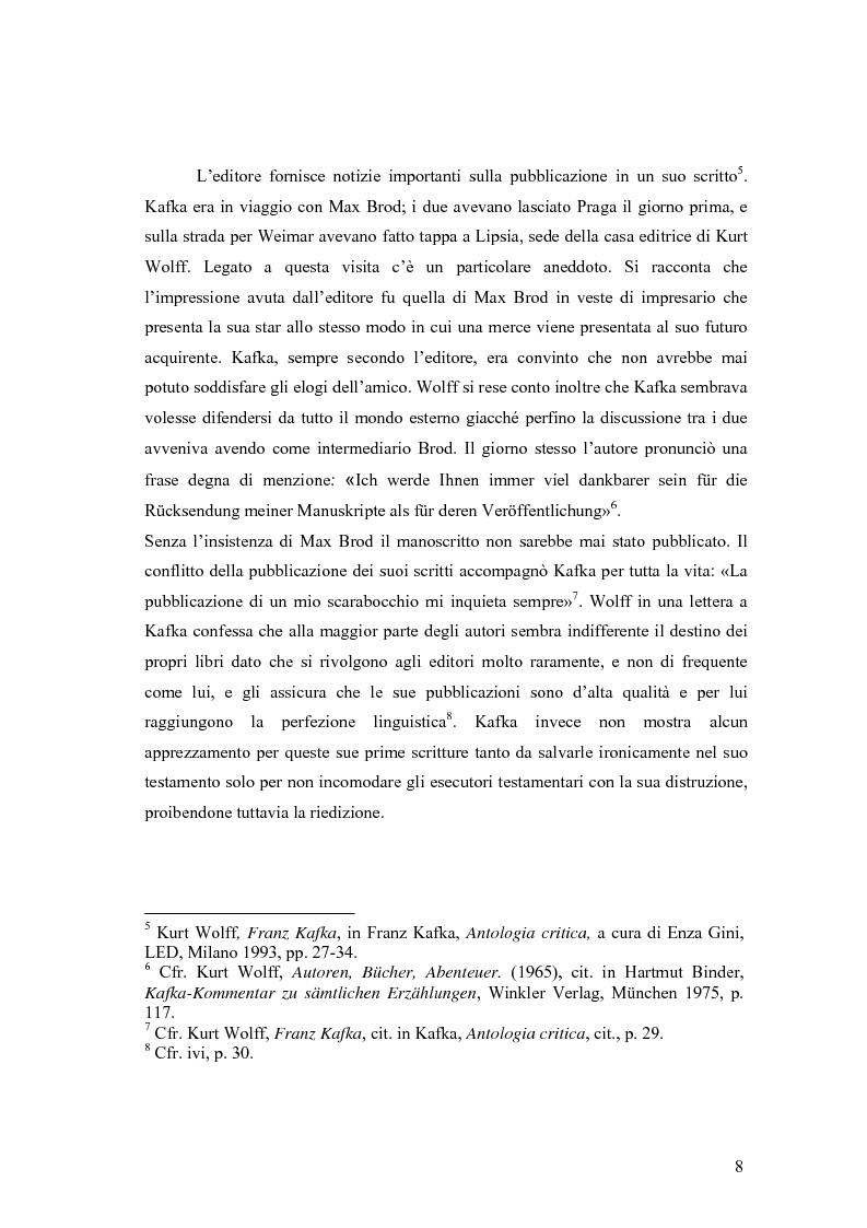 Anteprima della tesi: Betrachtung di Franz Kafka nelle traduzioni italiane, Pagina 4