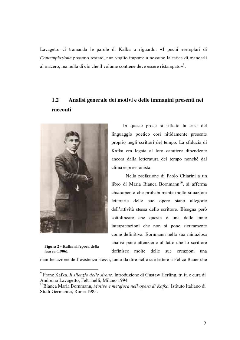 Anteprima della tesi: Betrachtung di Franz Kafka nelle traduzioni italiane, Pagina 5