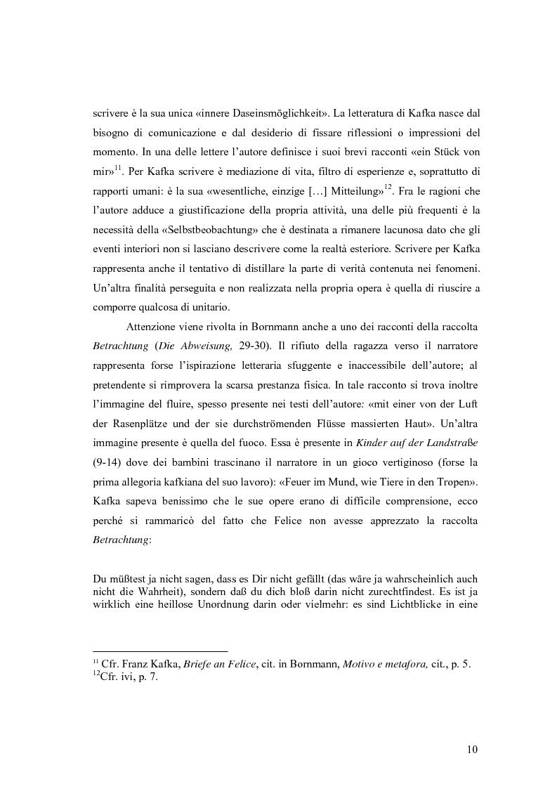 Anteprima della tesi: Betrachtung di Franz Kafka nelle traduzioni italiane, Pagina 6