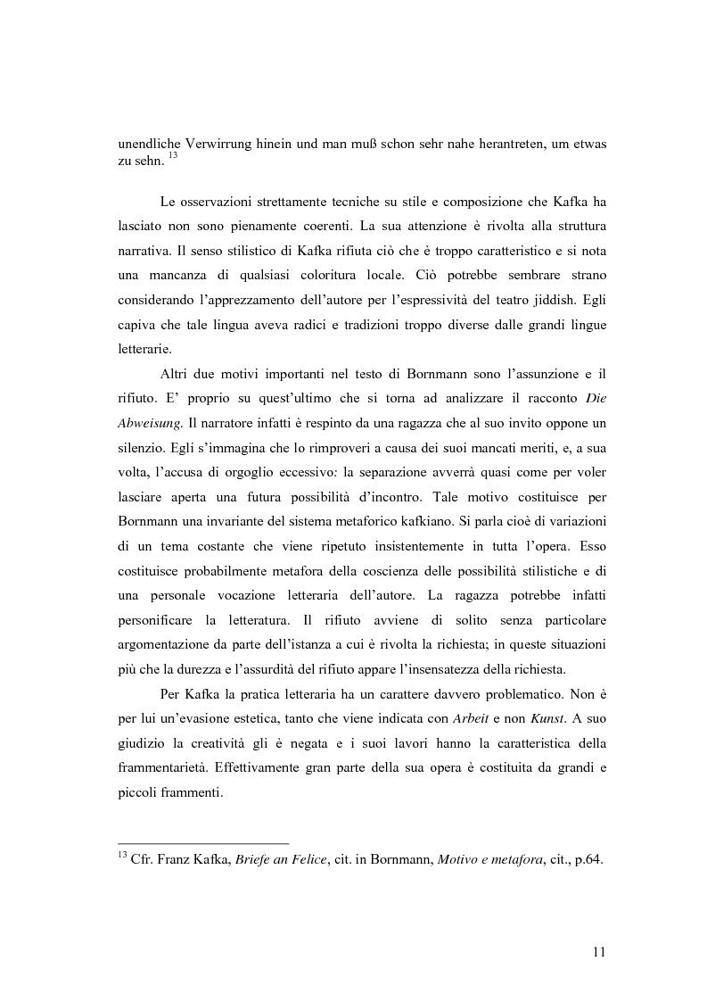 Anteprima della tesi: Betrachtung di Franz Kafka nelle traduzioni italiane, Pagina 7