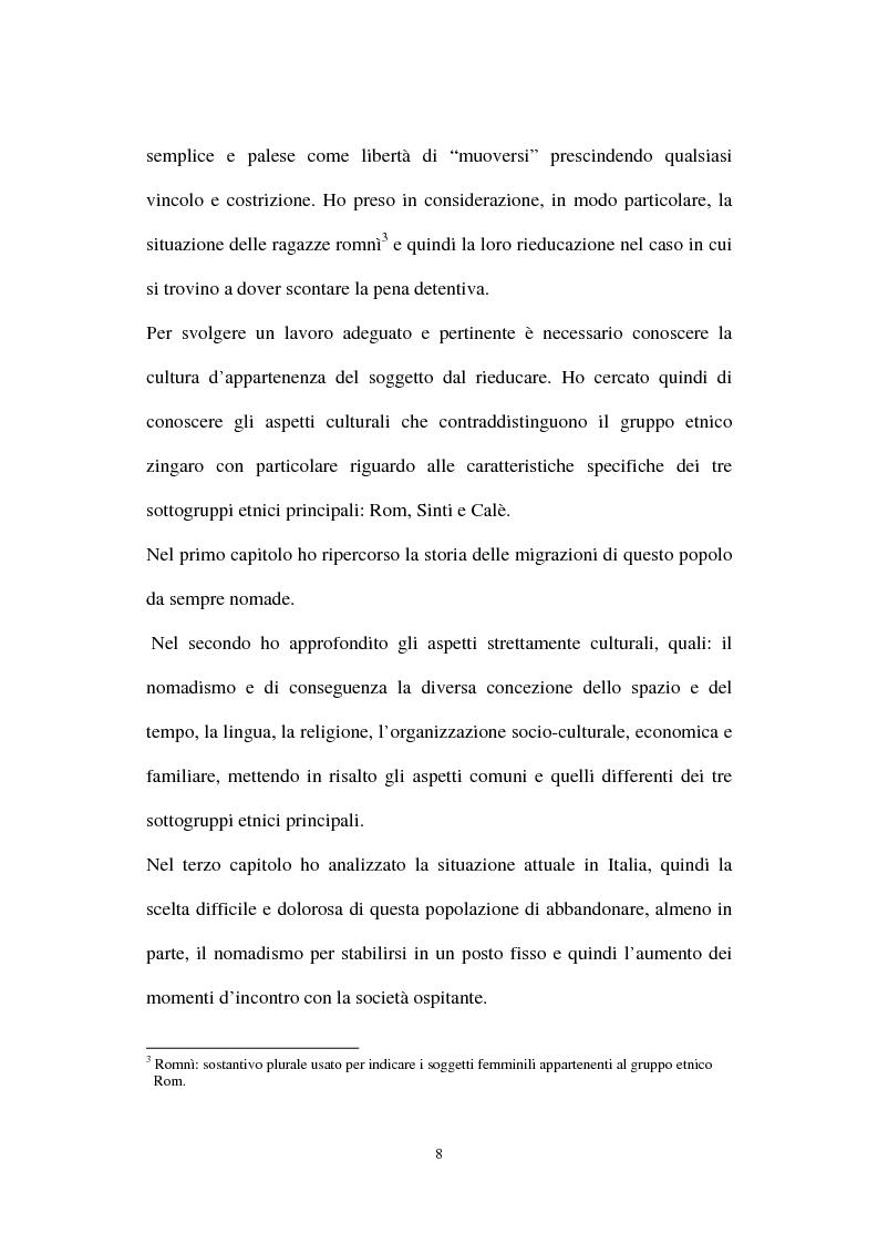 Anteprima della tesi: Le ragazze romni fra il campo e l'istituzione chiusa, Pagina 2