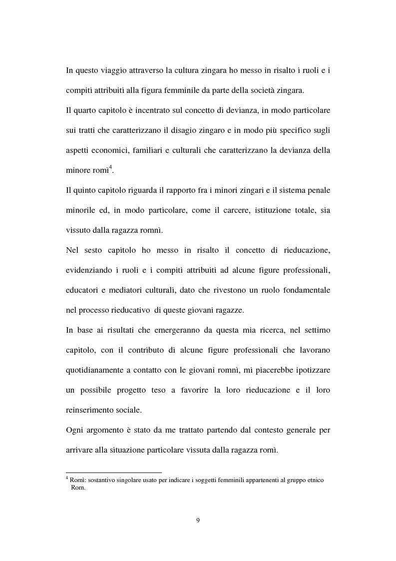 Anteprima della tesi: Le ragazze romni fra il campo e l'istituzione chiusa, Pagina 3