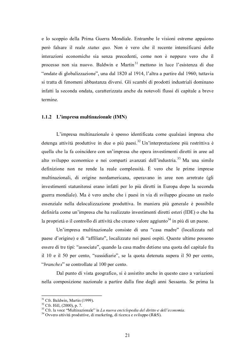 Anteprima della tesi: Giappone: crisi strutturale dell'economia e investimenti diretti in Italia e in Europa, Pagina 13
