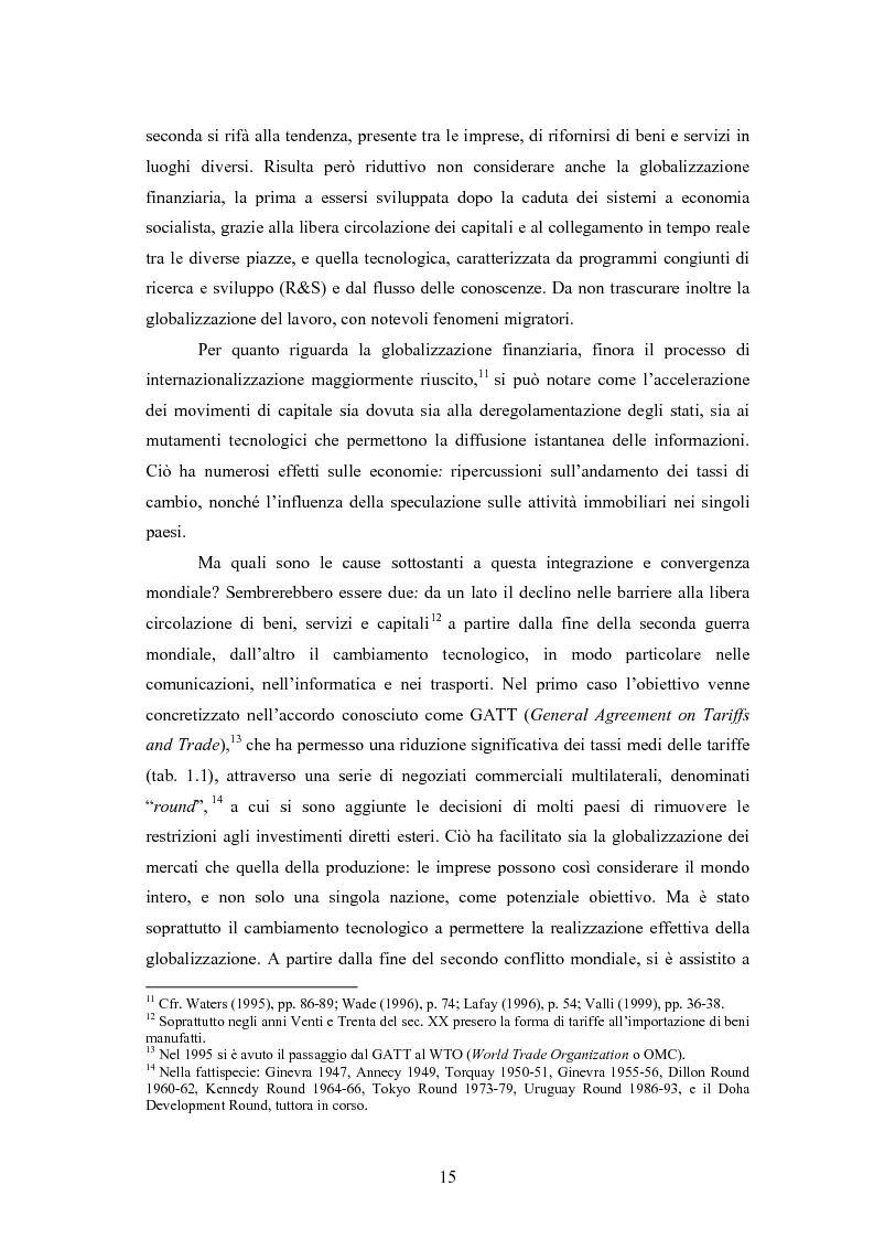 Anteprima della tesi: Giappone: crisi strutturale dell'economia e investimenti diretti in Italia e in Europa, Pagina 7