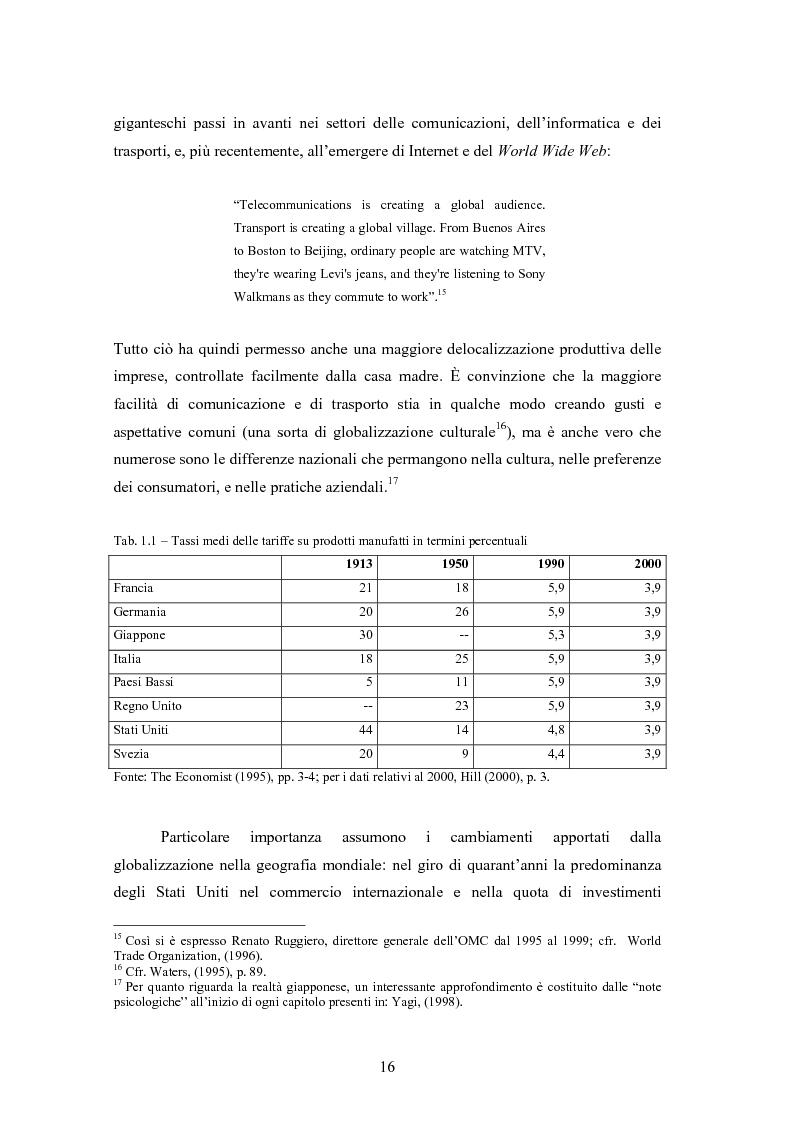 Anteprima della tesi: Giappone: crisi strutturale dell'economia e investimenti diretti in Italia e in Europa, Pagina 8