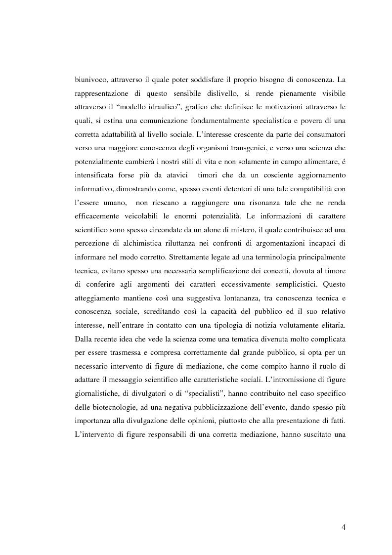 Anteprima della tesi: La comunicazione pubblicitaria nelle biotecnologie, Pagina 2