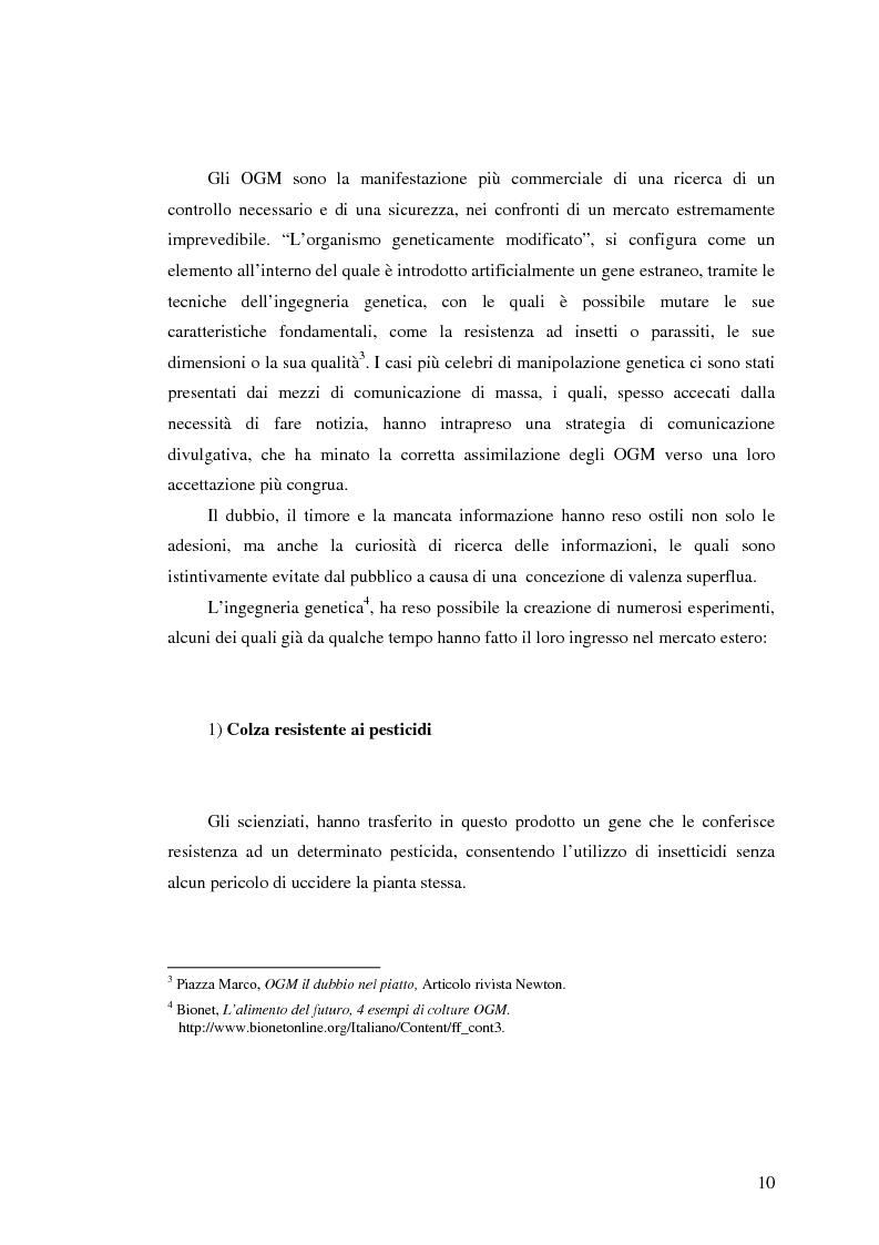 Anteprima della tesi: La comunicazione pubblicitaria nelle biotecnologie, Pagina 8