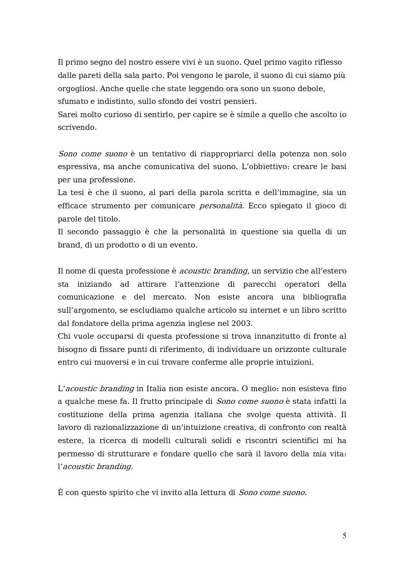Anteprima della tesi: Sono come suono. Progettare l'acoustic branding in Italia., Pagina 2
