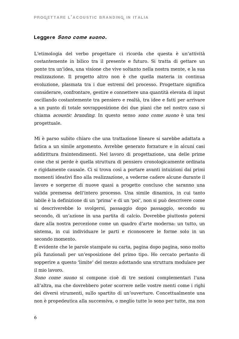 Anteprima della tesi: Sono come suono. Progettare l'acoustic branding in Italia., Pagina 3