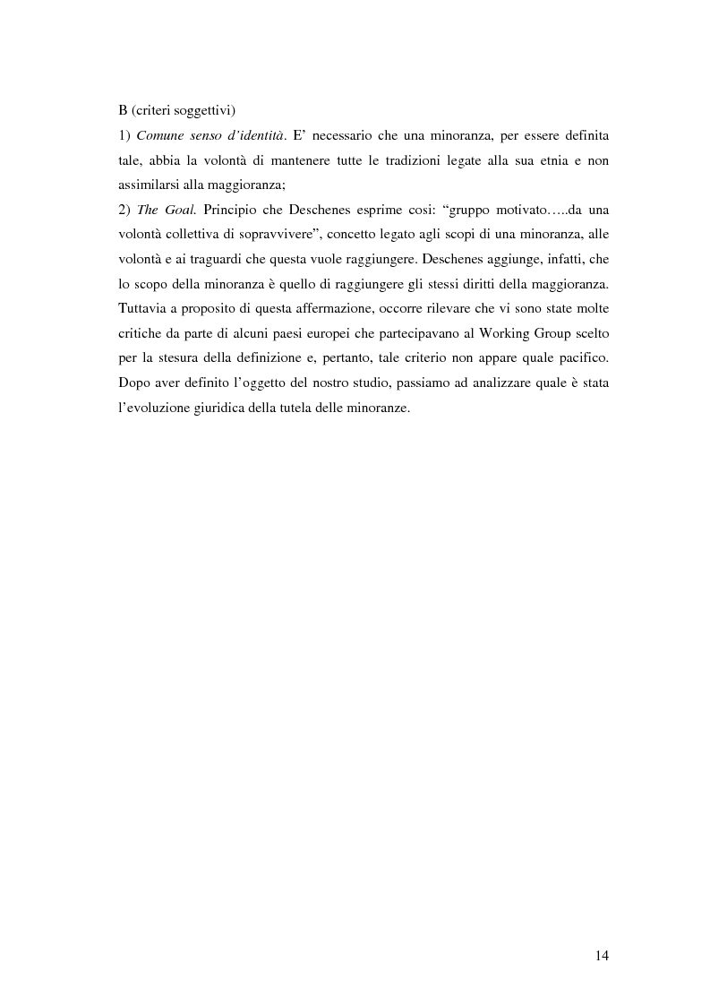 Anteprima della tesi: La tutela delle minoranze nazionali in Europa, Pagina 10