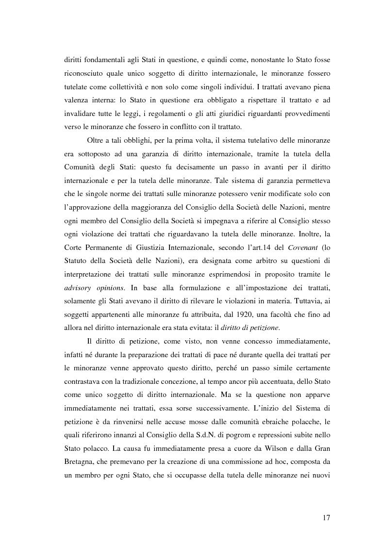 Anteprima della tesi: La tutela delle minoranze nazionali in Europa, Pagina 13