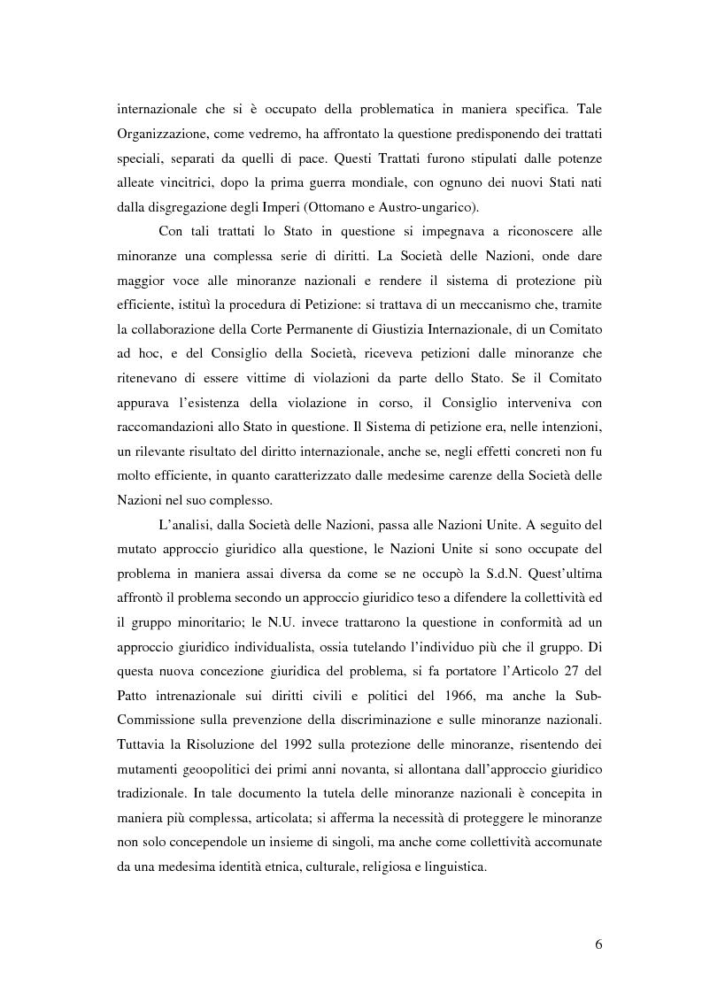 Anteprima della tesi: La tutela delle minoranze nazionali in Europa, Pagina 2