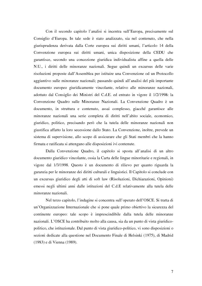 Anteprima della tesi: La tutela delle minoranze nazionali in Europa, Pagina 3