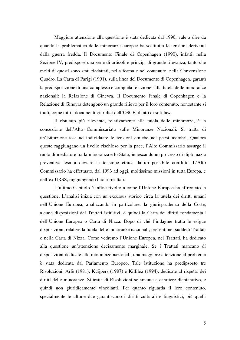 Anteprima della tesi: La tutela delle minoranze nazionali in Europa, Pagina 4
