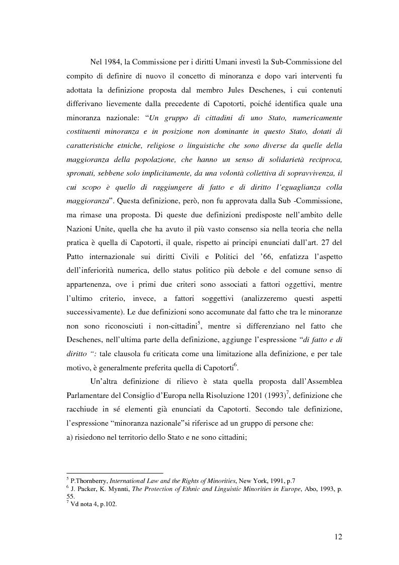 Anteprima della tesi: La tutela delle minoranze nazionali in Europa, Pagina 8