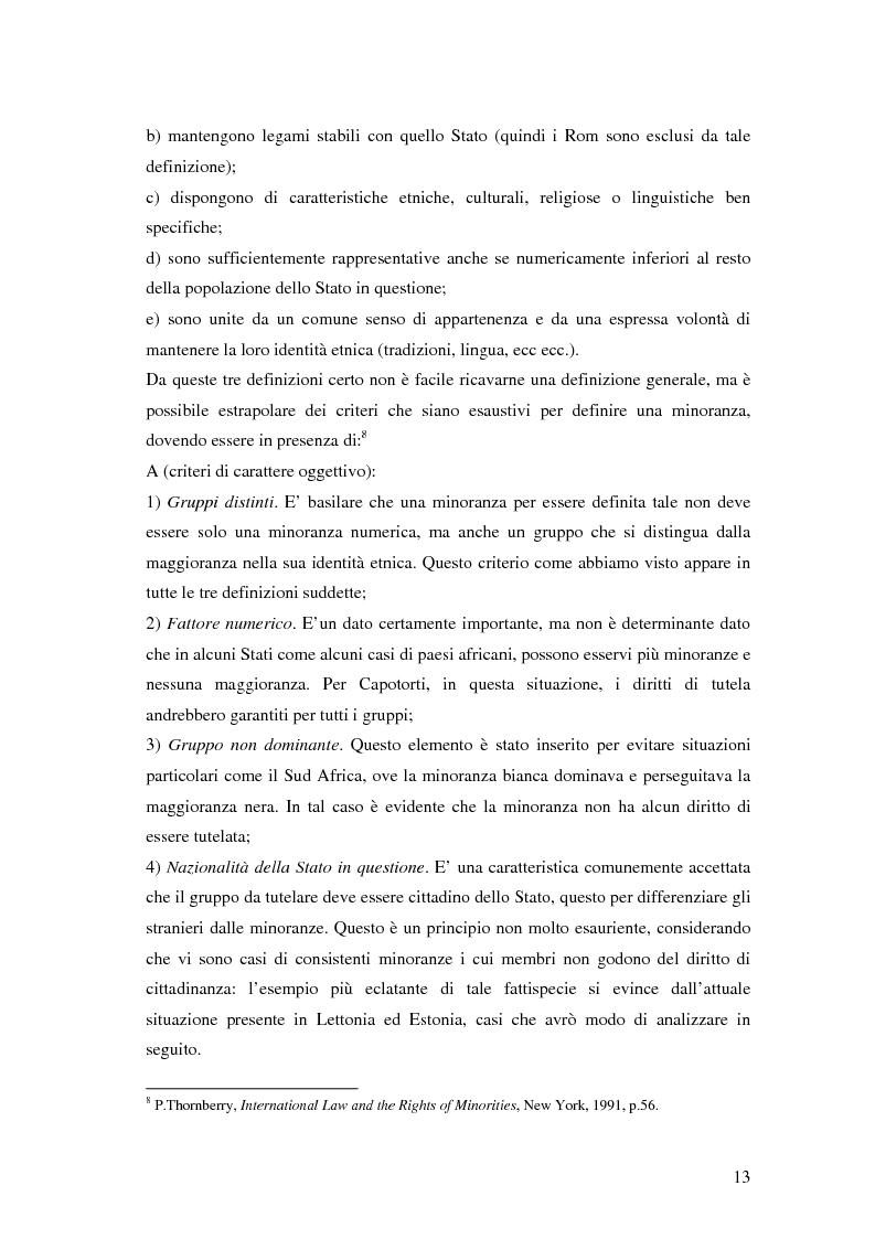 Anteprima della tesi: La tutela delle minoranze nazionali in Europa, Pagina 9