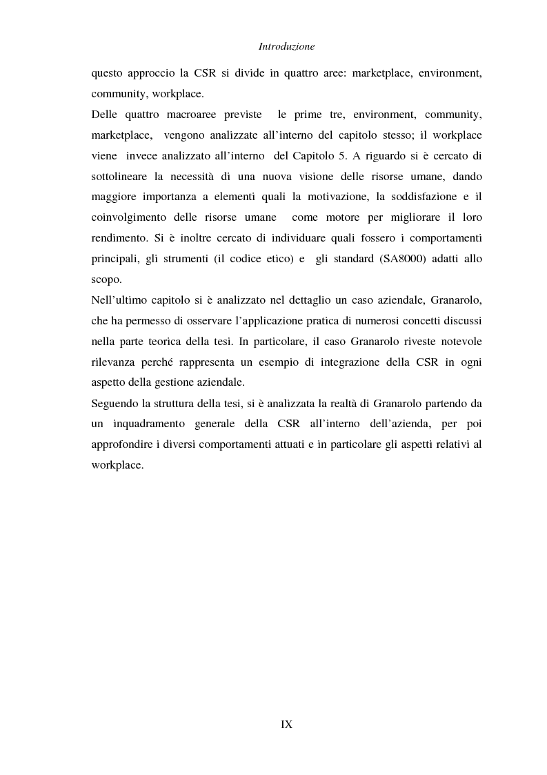 Anteprima della tesi: Responsabilità sociale di impresa e Workplace, Pagina 5