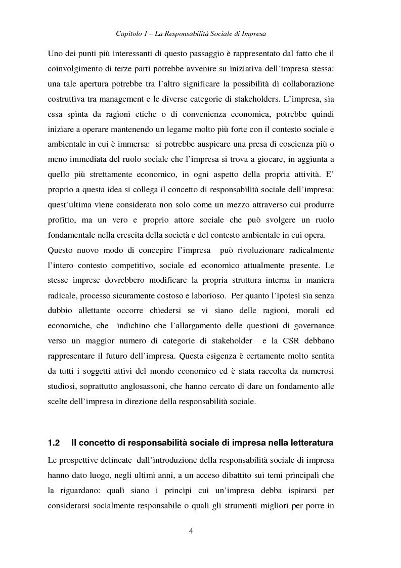 Anteprima della tesi: Responsabilità sociale di impresa e Workplace, Pagina 9