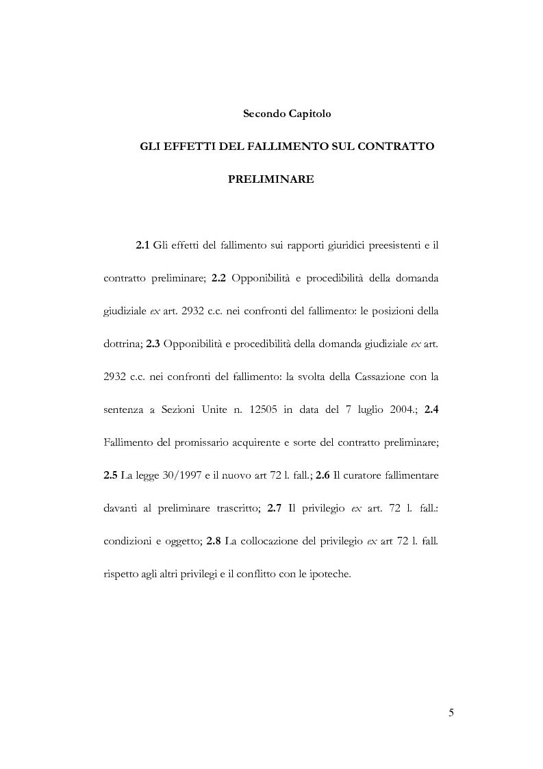 Anteprima della tesi: Fallimento e contratto preliminare, Pagina 1