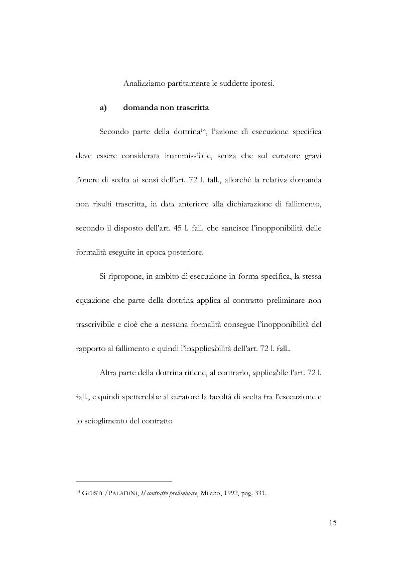 Anteprima della tesi: Fallimento e contratto preliminare, Pagina 11