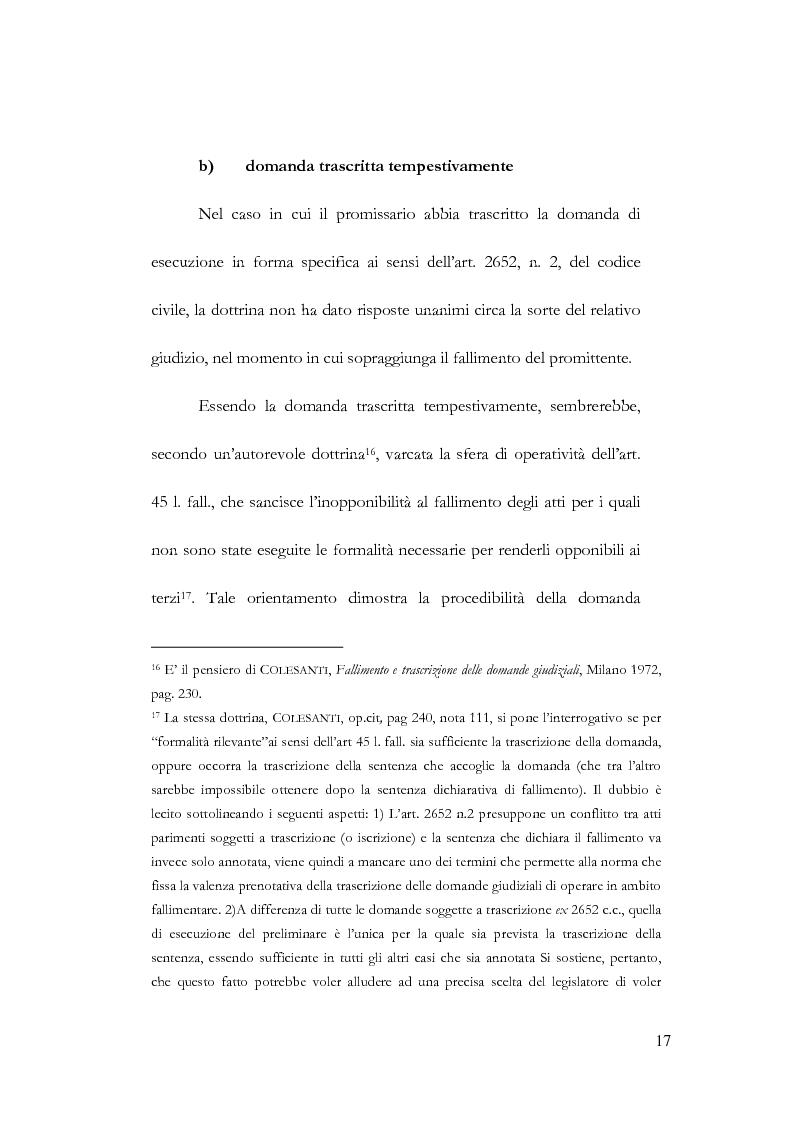 Anteprima della tesi: Fallimento e contratto preliminare, Pagina 13
