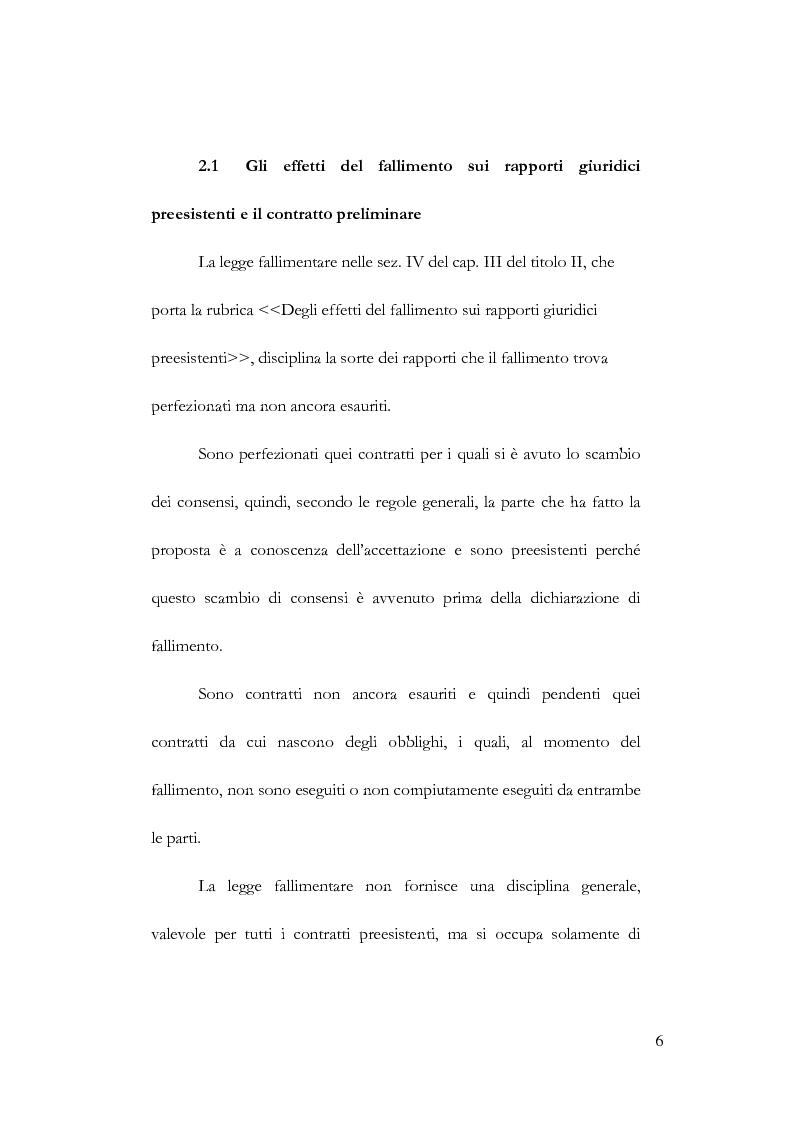 Anteprima della tesi: Fallimento e contratto preliminare, Pagina 2