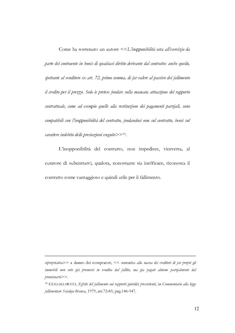 Anteprima della tesi: Fallimento e contratto preliminare, Pagina 8