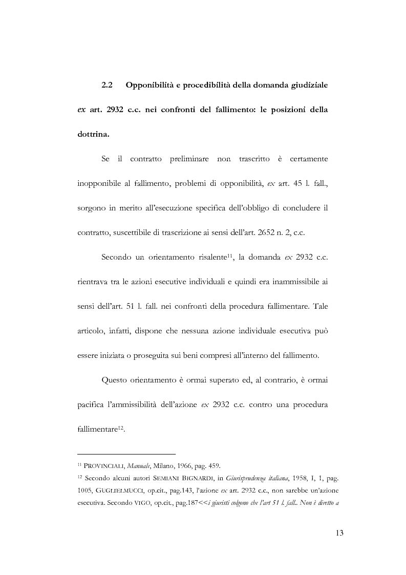 Anteprima della tesi: Fallimento e contratto preliminare, Pagina 9